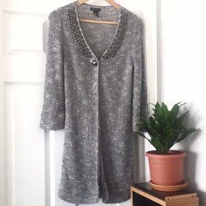 BCBGMAXAZRIA RIA Long Knit Sweater Cardigan